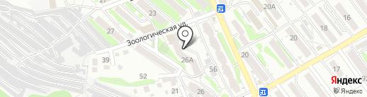Киоск по продаже фруктов и овощей на карте Саратова