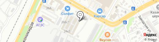 Магазин строительных материалов на карте Саратова