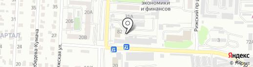 Новая Рига на карте Саратова