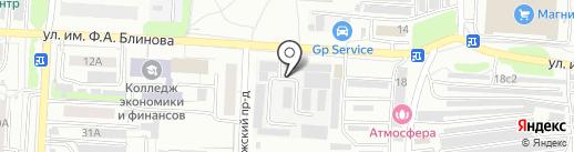 Грос на карте Саратова