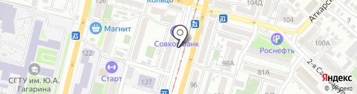 Пинта на карте Саратова