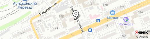 Адента на карте Саратова