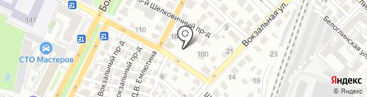 База стройматериалов на Шелковичной на карте Саратова