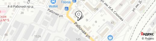 Новатор на карте Саратова