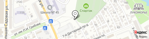 Спартак на карте Саратова