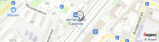 Киоск по продоже фастфудной продукции на карте Саратова
