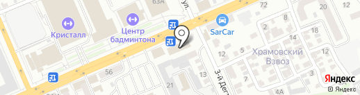 Лист-art на карте Саратова