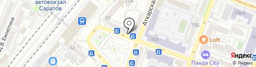 Спутник на карте Саратова