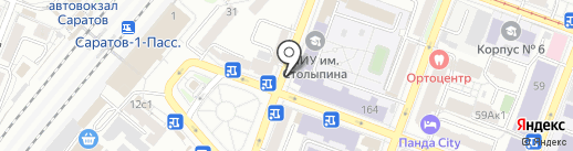 Кафе быстрого питания на карте Саратова