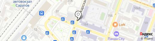 Магазин одежды и кожгалантереи на карте Саратова