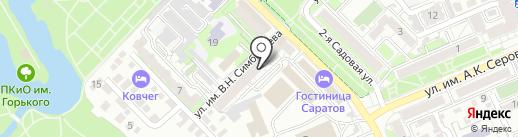 Окна Актив Сервис на карте Саратова