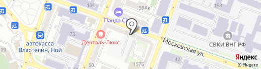 Мультиплекс на карте Саратова