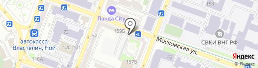 Цветы на Московской на карте Саратова
