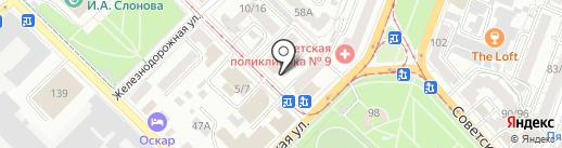 Цветочная база №1 на карте Саратова