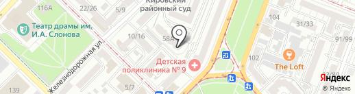 Рукабель на карте Саратова