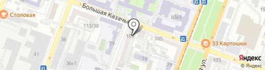 Фишка на карте Саратова