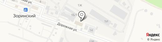 Абрис на карте Зоринского