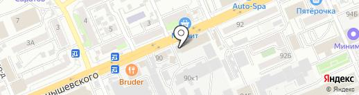 Изида на карте Саратова