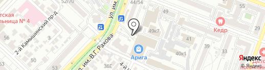 Белта на карте Саратова