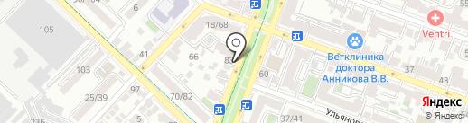 Адвокатский кабинет Гладков А.Н. на карте Саратова