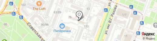 Центральный на карте Саратова