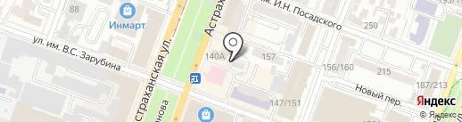 Варманн на карте Саратова