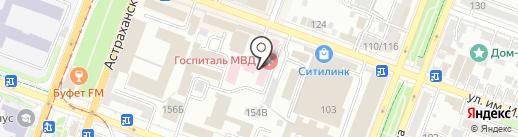 Медико-санитарная часть МВД России по Саратовской области на карте Саратова
