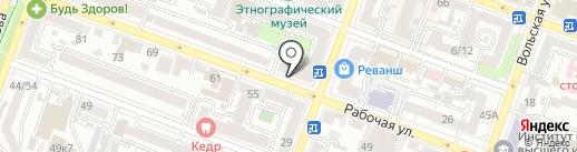 Инфинити на карте Саратова
