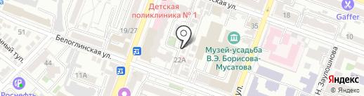 Автостоянка на карте Саратова