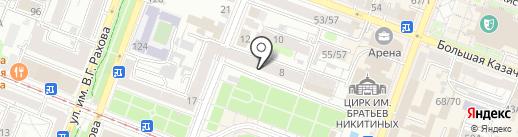 Академик на карте Саратова