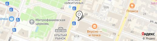 Митлайн на карте Саратова