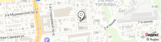 Пространство бега на карте Саратова