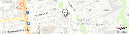Фрост на карте Саратова