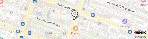 Комус-Волга на карте Саратова