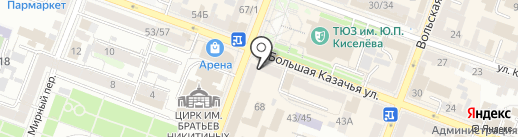 Эльга на карте Саратова