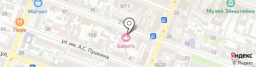 Мегаполис на карте Саратова