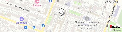 Гарант на карте Саратова