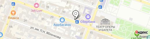 ММТС на карте Саратова