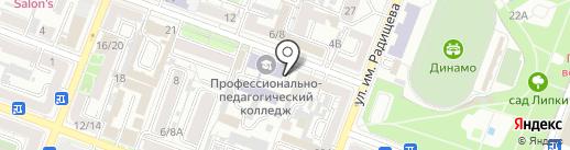 Катран на карте Саратова