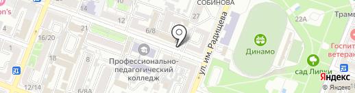 Газпромпроектирование на карте Саратова