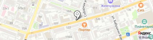 Ясень на карте Саратова