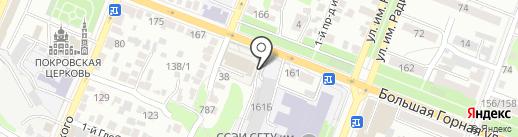 Спортивный комплекс на карте Саратова