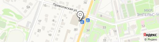 Киоск фастфудной продукции на карте Приволжского
