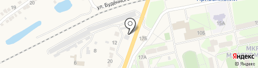 Автостоянка на карте Приволжского