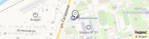 Приволжская на карте Приволжского