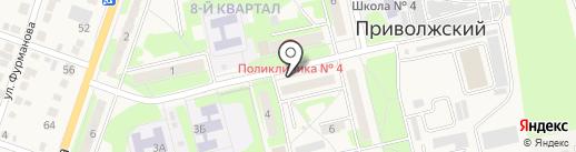 Аптека от склада на карте Приволжского