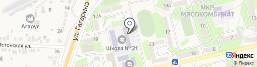 Средняя общеобразовательная школа №21 на карте Приволжского