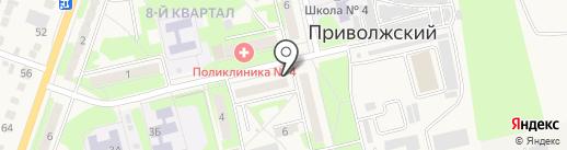 Парикмахерская на карте Приволжского