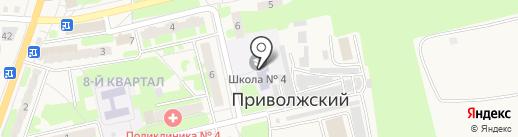 Средняя общеобразовательная школа №4 на карте Энгельса