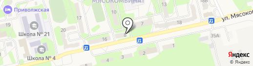 Магазин куриного мяса на карте Приволжского